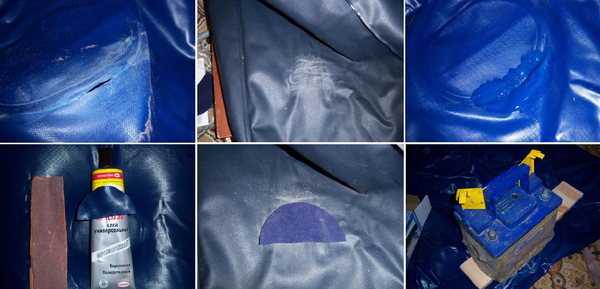 Как своими руками заклеить надувной матрас