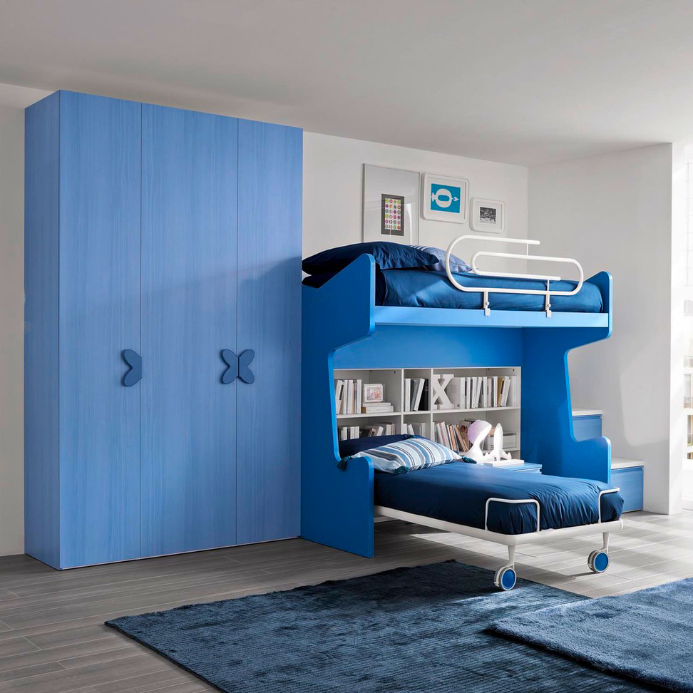 выдвижная кровать для двух мальчиков