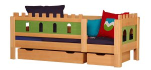 Кровать для детей с ящиками