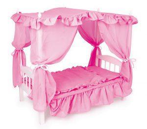 Кровать для девочек с балдахином