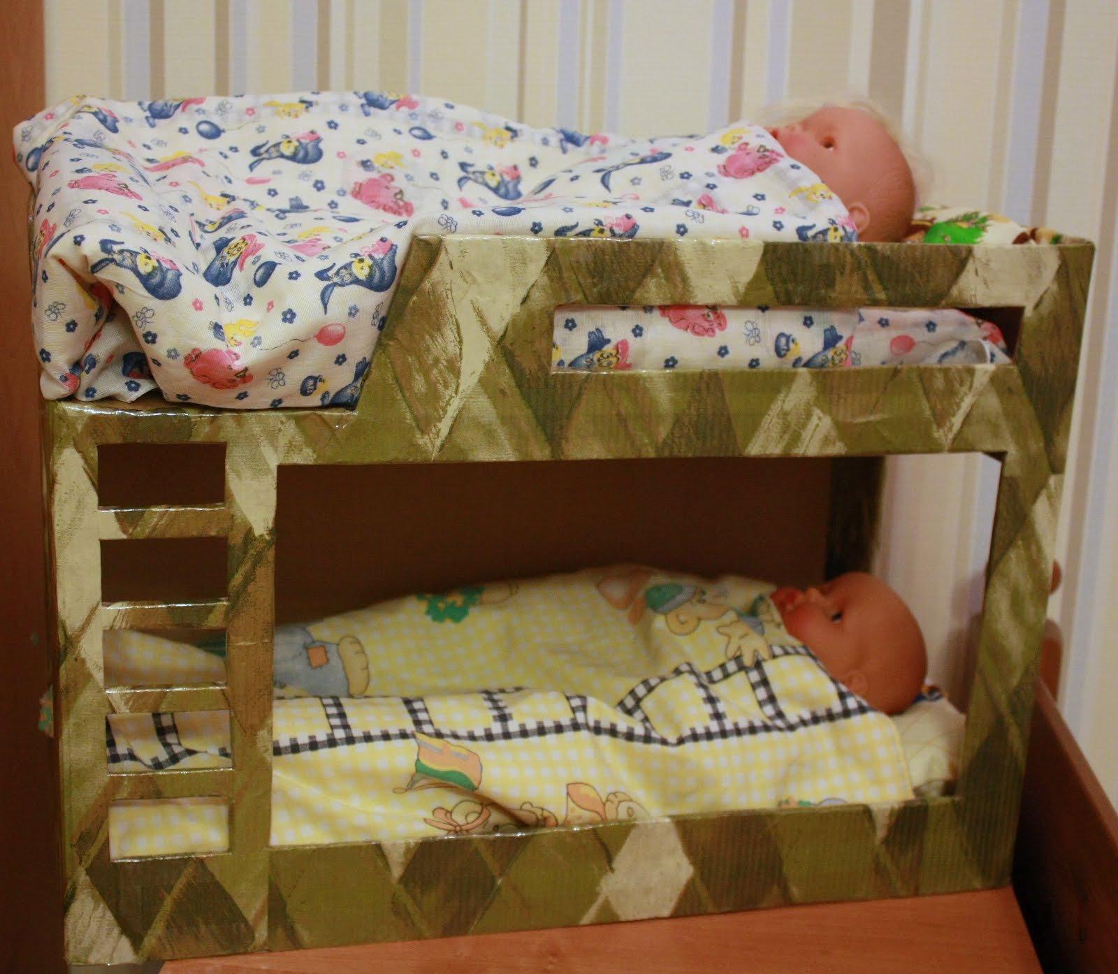 Кроватка для барби своими рукам