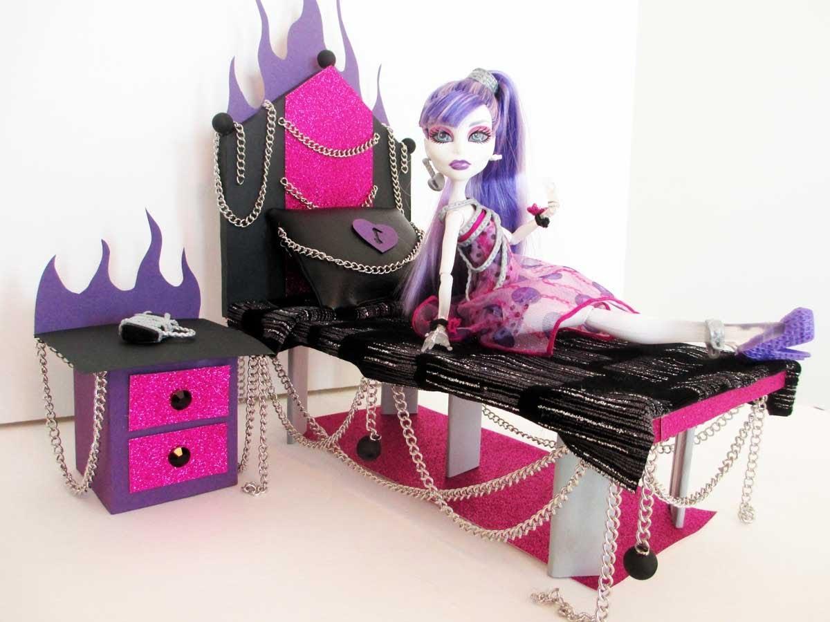 Как монстр хай сделать мебель для кукол своими руками