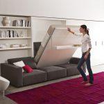 Универсальное решение — кровать-трансформер встроенная в шкаф