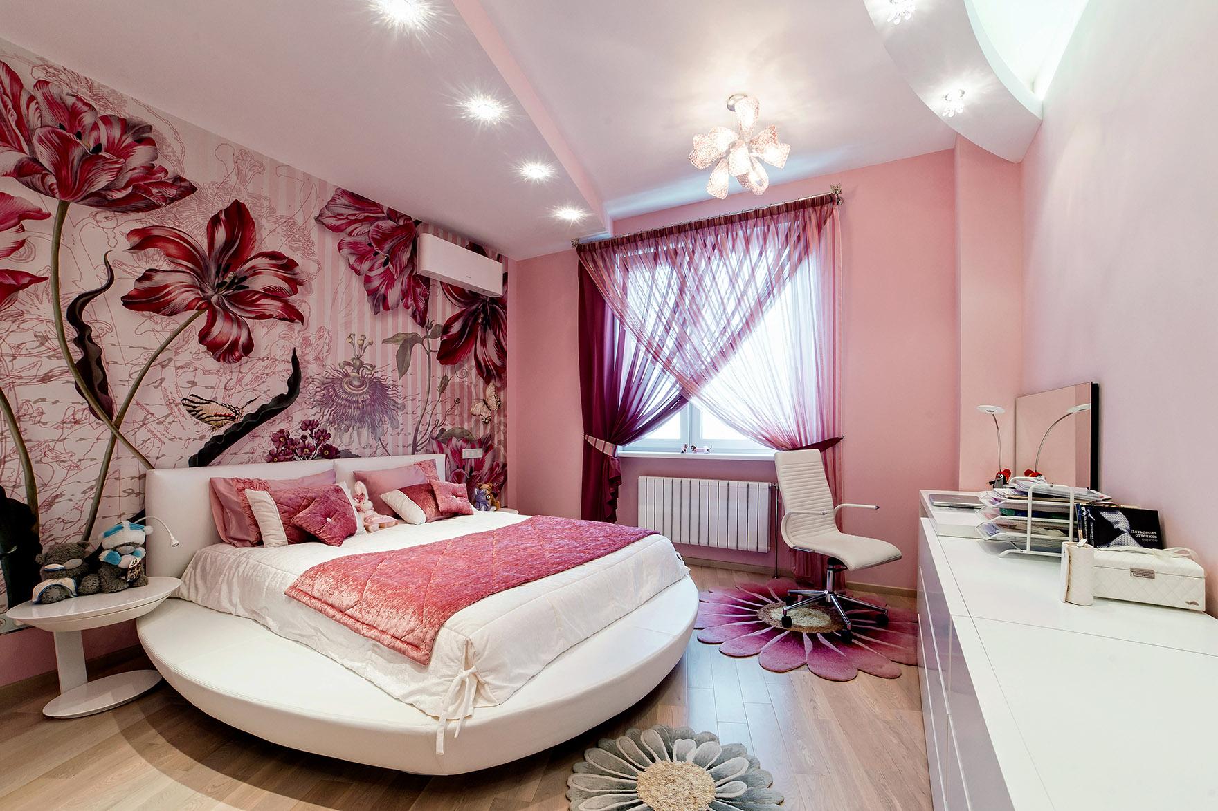 Ремонт в спальне для девушки