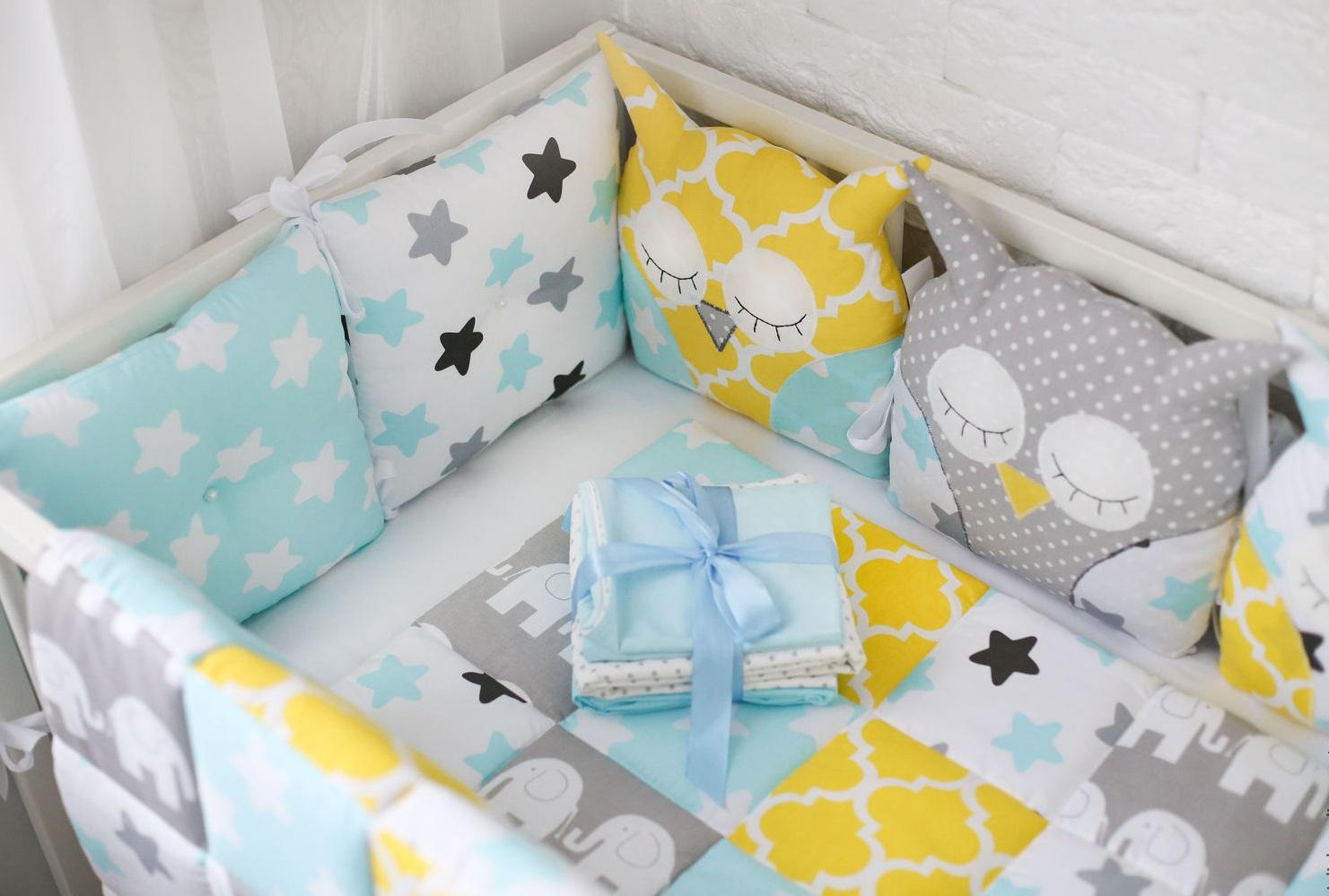 Бортики на кроватку для новорожденных своими руками