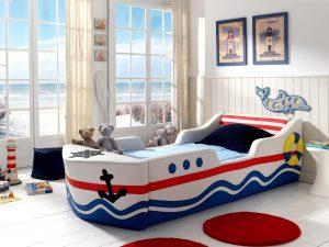 Кровать - корабль для мальчиков от 3 лет