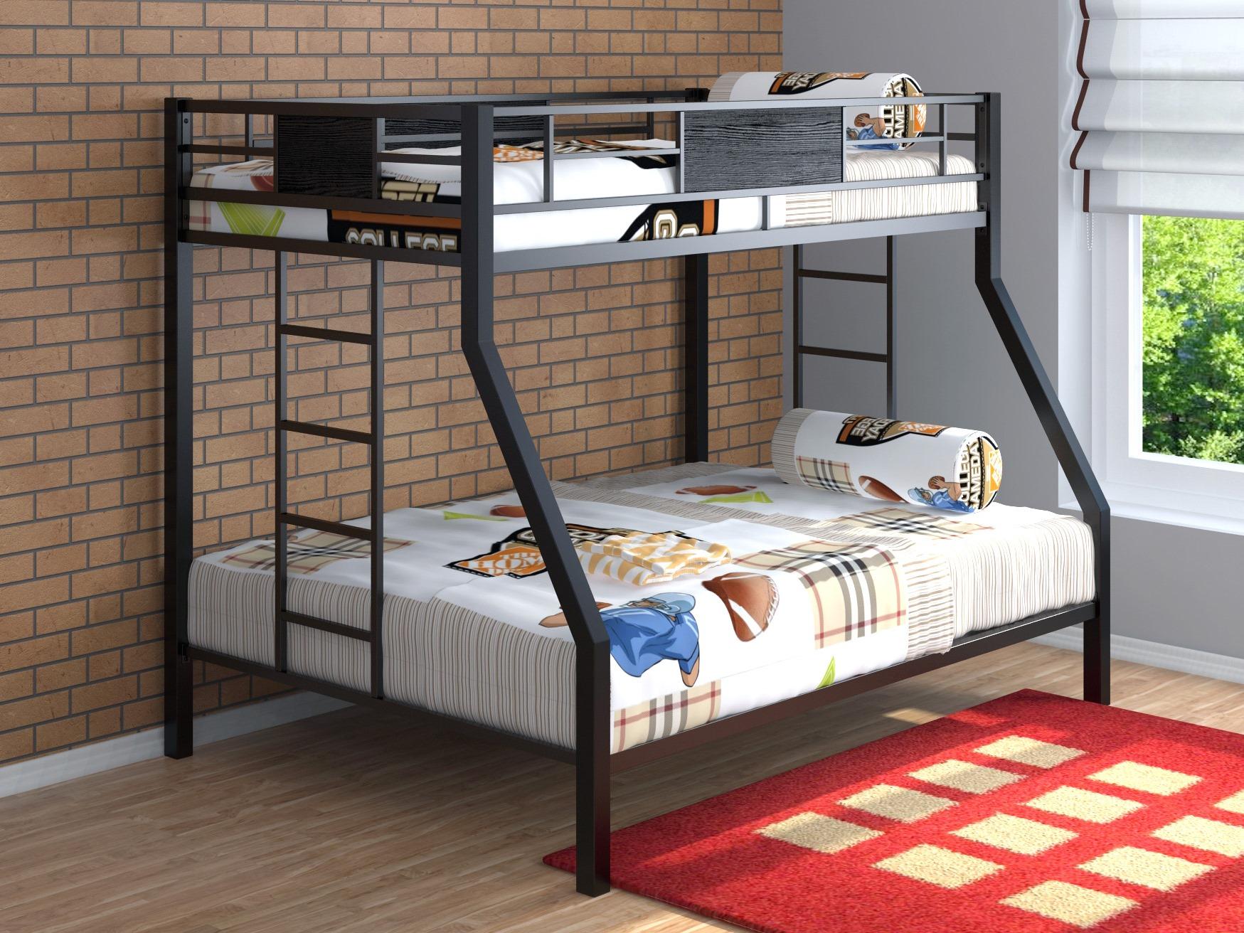 Простая двухъярусная кровать без дополнительных элементов