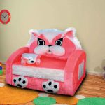 розовое кресло для девочки