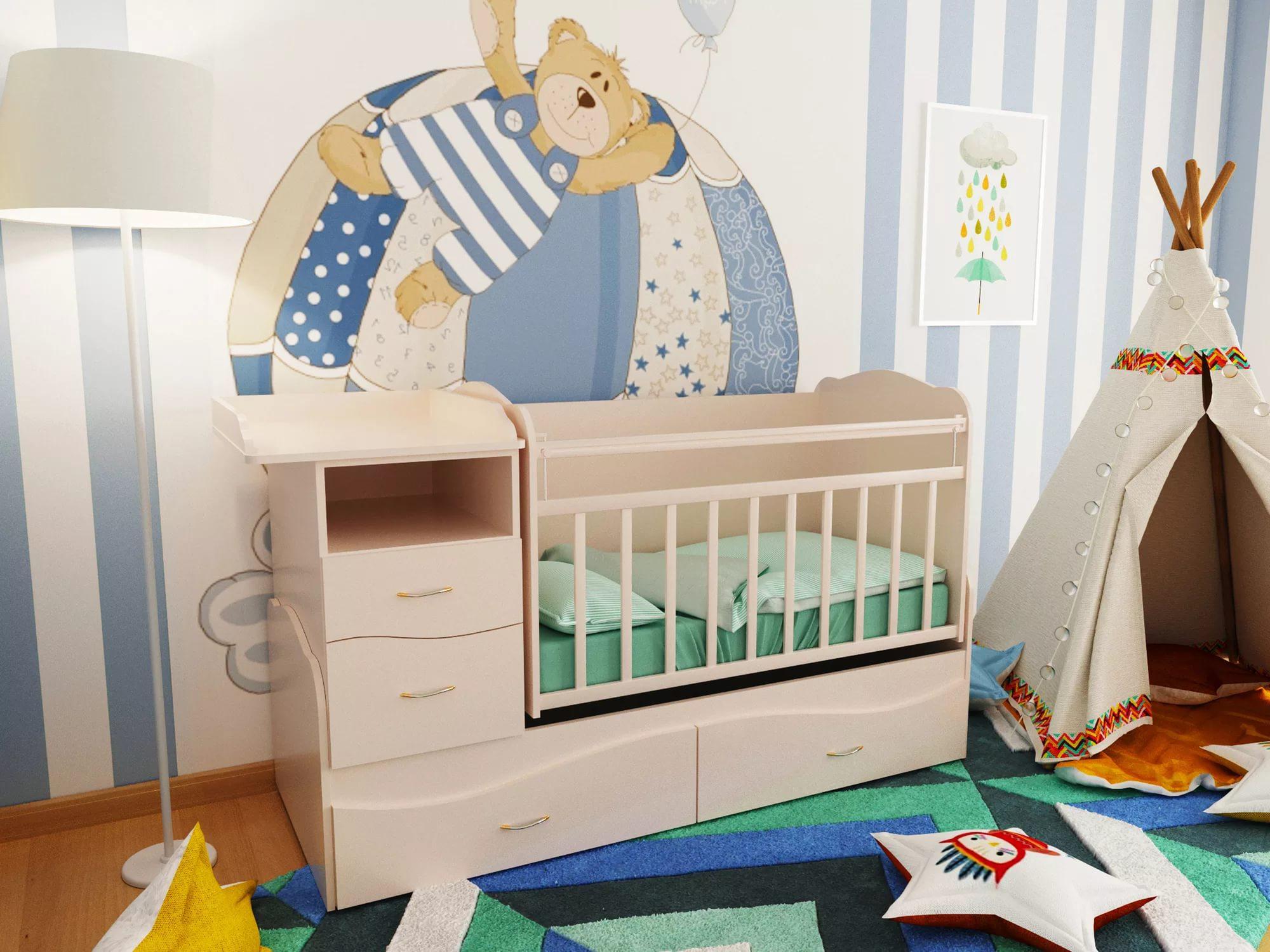 Функциональная кровать для новорожденного