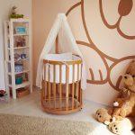 Круглая кроватка трансформер — обеспечение комфорта и безопасного сна для новорожденного
