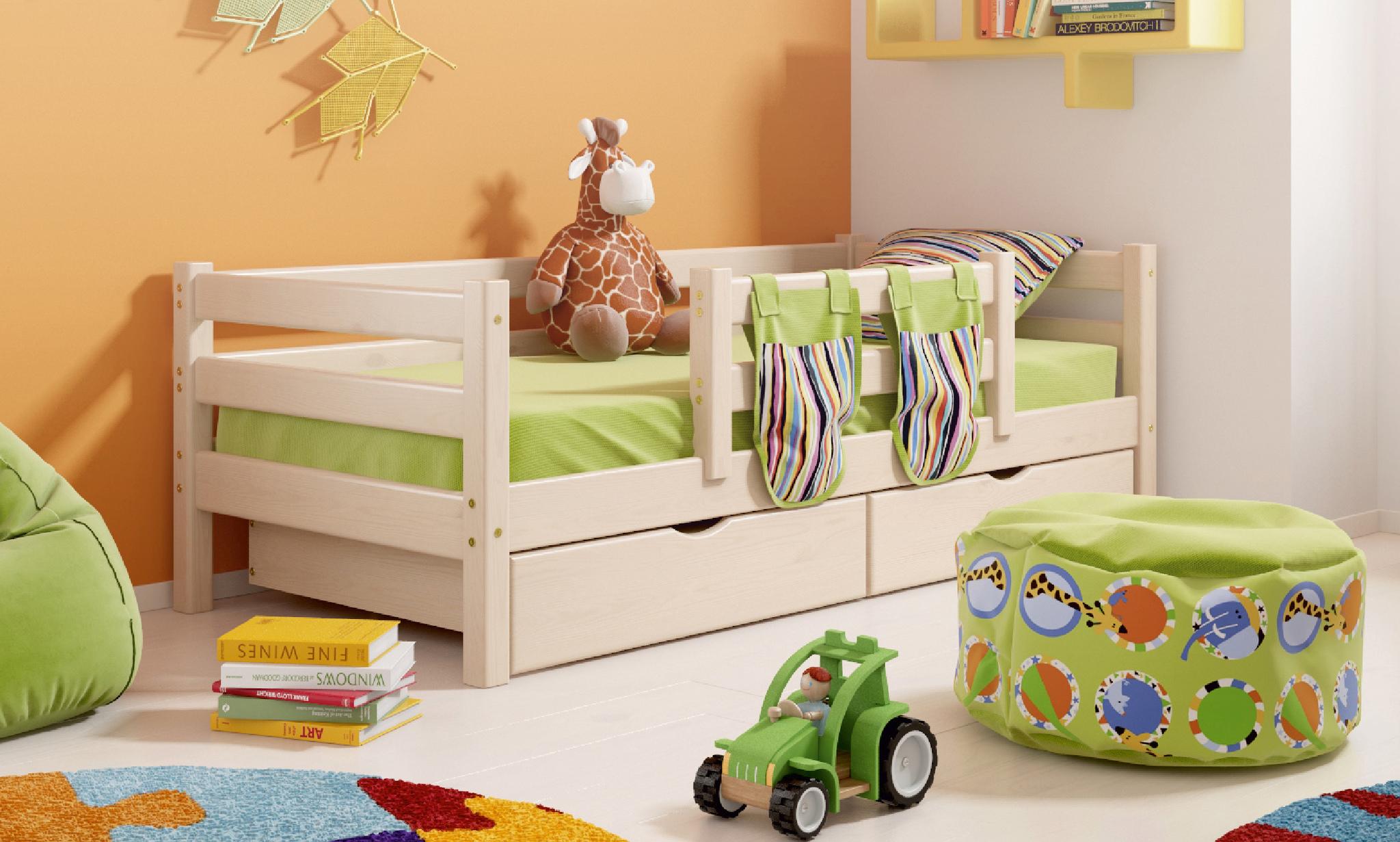 Детская кровать со съемным бортиком