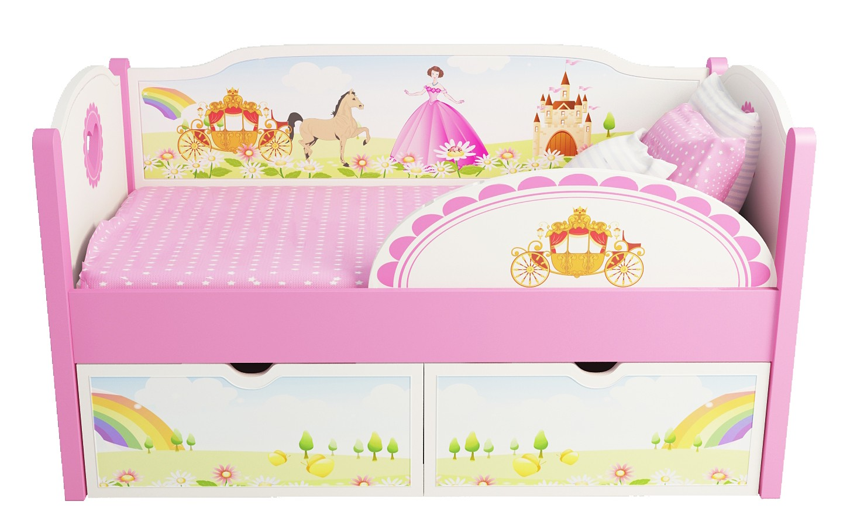 Детская кровать с прицессой
