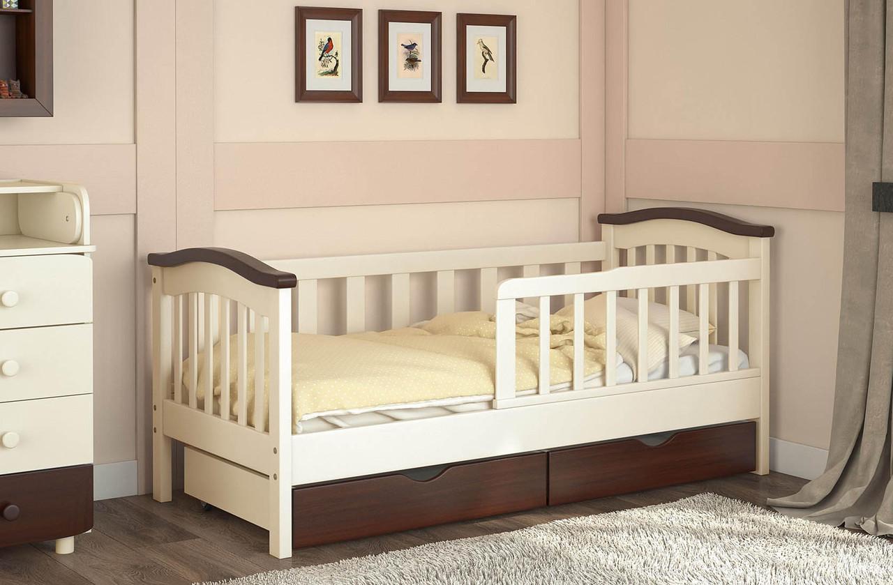 Кровать с бортиками и ящиками под спальным местом