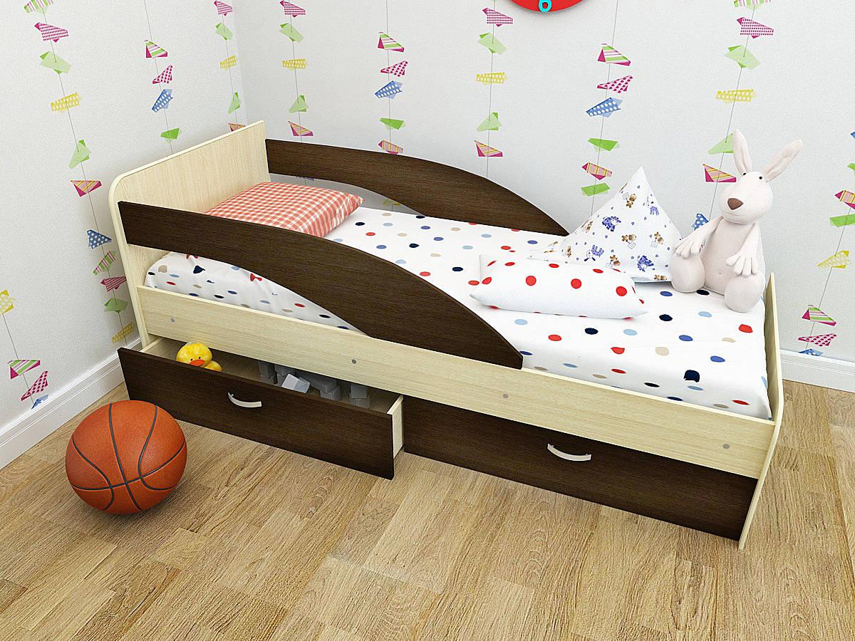 Простая, но функциональная конструкция кровати с бортиками