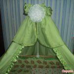 Как сшить балдахин на детскую кроватку: выбор ткани и 42