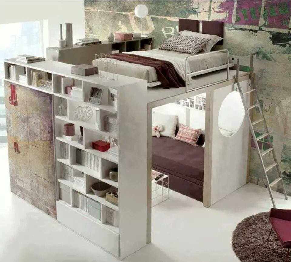 Bed Designs For Small Rooms White L Shaped Loft Bunk Bed