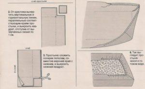 Как сшить простынь на резинке: выкройка с описанием 15