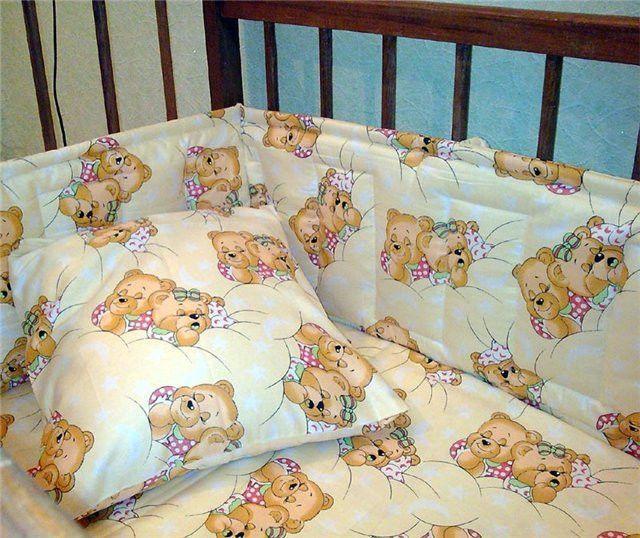 Как сшить постельное белье на кроватку новорожденного
