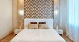 Белая изголовье кровати