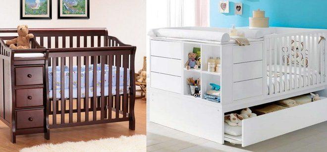 Варианты кроватей-трансфомеров для новорожденного