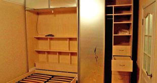 Вариант кровати шкафа