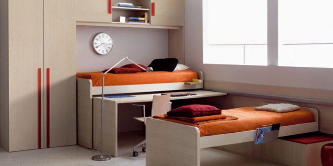 Вариант практичной мебели для спальни