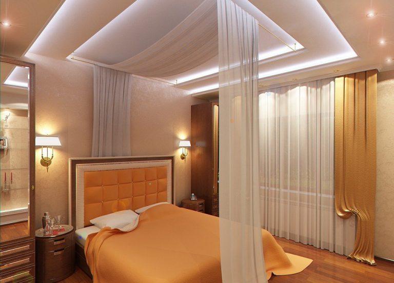 Как сделать натяжной потолок в спальне