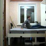 Горизонтальная кровать-трансформер