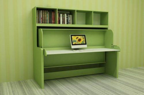 Зеленый стол-кровать