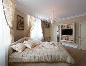 Полиуретановый плинтус в спальню