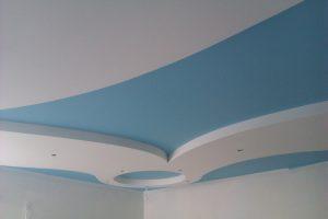 Пример покраски потолка в спальне