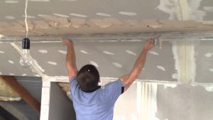 Работа с потолком