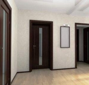 Темные плинтуса в спальне