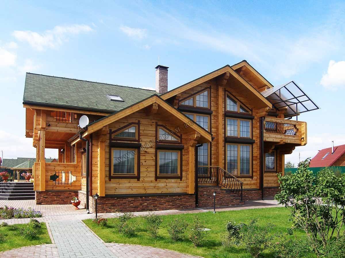 Загородный дом клееный брус