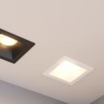 Встраиваемые светодиодные светильники и особенности их применения