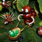 Топиарий, новогодняя елочка, животные и другие поделки из каштанов (12 фото)