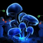 Флуоресцентные обои с эффектом 3д: объем и свечение в интерьере