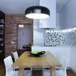 Замечательный дизайн маленькой квартиры в стиле модерн