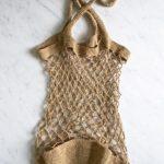 Льняная сумка-авоська крючком