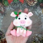 Как сделать новогоднюю поделку символа 2019 года жёлтой Свинки своими руками (49 фото)