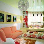 Оформление гостиной спальни у себя в квартире