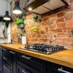👍 Кухонный фартук под кирпич: особенности фото