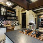 👍 Интерьер кухни с темной столешницей: особенности, материалы, сочетания, 75 фото