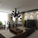 Оптимальные варианты дизайна столовой гостиной