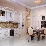 👍 Дизайн интерьера кухни-столовой в классическом стиле