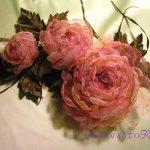 Делаем цветы из ткани для штор: подробный мастер-класс