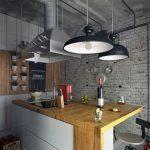 ? Просторные кухни в стиле лофт