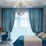 Голубые шторы в интерьере: советы дизайнеров по правильному декору