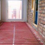 Расчет электрического кабельного пола для  балконе
