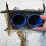 Инструкция по установке подрозетников в бетонную стену